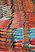 Traditional leather shoes on sale at Rohet, Rajasthan, Northern India