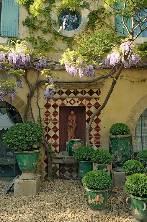 France, Languedoc Roussillon, Gard, Petite Camargue, le jardin de Bruno Carles