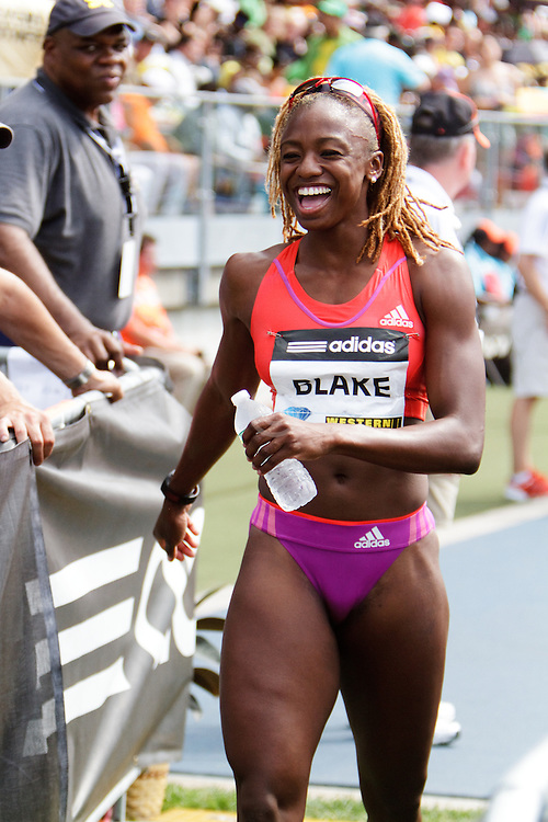 Samsung Diamond League adidas Grand Prix track & field; women's 800 meters, post race, Dominque Blake, JAM