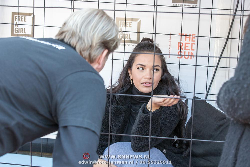 NLD/Blaricum/20190513 -  Lock Me Up - Free a Girl actie benefietfeest, Monica Geuze