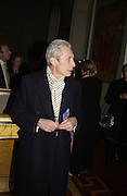 Charlie Watts, Private view of 'Heaven on Earth' exhibition. Hermitage. Somerset House. 24 March 2004. ONE TIME USE ONLY - DO NOT ARCHIVE  © Copyright Photograph by Dafydd Jones 66 Stockwell Park Rd. London SW9 0DA Tel 020 7733 0108 www.dafjones.com