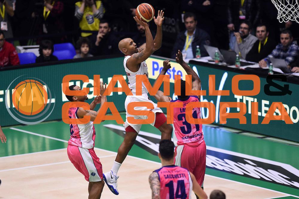 Richard Ricky Hickman<br /> EA7 Emporio Armani Olimpia Milano - Banco di Sardegna Dinamo Sassari <br /> Poste Mobile Final Eight F8 2017 <br /> Lega Basket 2016/2017<br /> Rimini, 19/02/2017<br /> Foto Ciamillo-Castoria