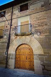 Ornate doorway in Adahuesca, Huesca, Aragon, Spain<br /> <br /> (c) Andrew Wilson | Edinburgh Elite media
