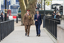 © Licensed to London News Pictures. 02/11/2017. London, UK. New Defence Secretary Gavin Williamson (R) arrives at the Ministry of Defence. Photo credit: Rob Pinney/LNP