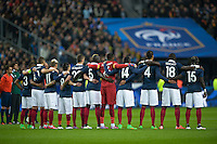 Illustration minute de silence - Equipe France - 26.03.2015 - France / Bresil - Match Amical<br />