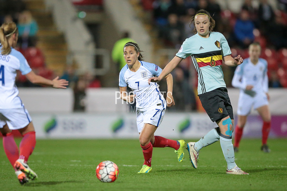 Fara Williams (England) during the Euro 2017 qualifier between England Ladies and Belgium Ladies at the New York Stadium, Rotherham, England on 8 April 2016. Photo by Mark P Doherty.