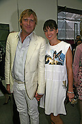 Dan Lywood and Sunshine Bertrand, Beyond Belief-Damien Hirst. White Cube Hoxton and Mason's Yard.Party  afterwards at the Dorchester. Park Lane. 2 June 2007.  -DO NOT ARCHIVE-© Copyright Photograph by Dafydd Jones. 248 Clapham Rd. London SW9 0PZ. Tel 0207 820 0771. www.dafjones.com.
