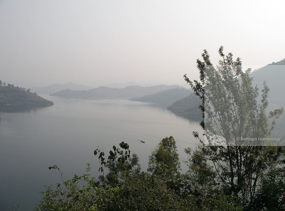 Rwanda - Kivu lake seen from the hills in Gisenyi.
