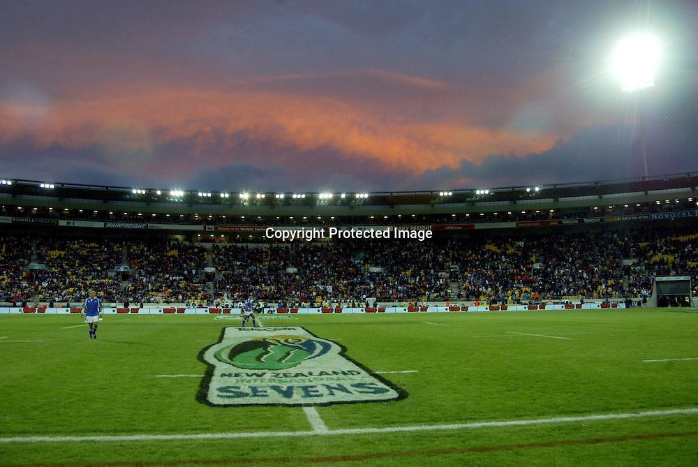8th February, 2003. IRB Sevens. Westpac Stadium, Wellington, New Zealand.<br />Westpactrust Stadium<br />Pic: Sandra Teddy/Photosport