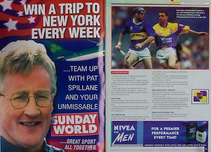 All Ireland Senior Hurling Championship Final,.09.09.2001, 9th September 2001,.Minor Cork 2-10, Galway 1-8,.Senior Tipperary 2-18, Galway 2-15,  .09092001AISHCF,.Sunday World, Nivea for men,