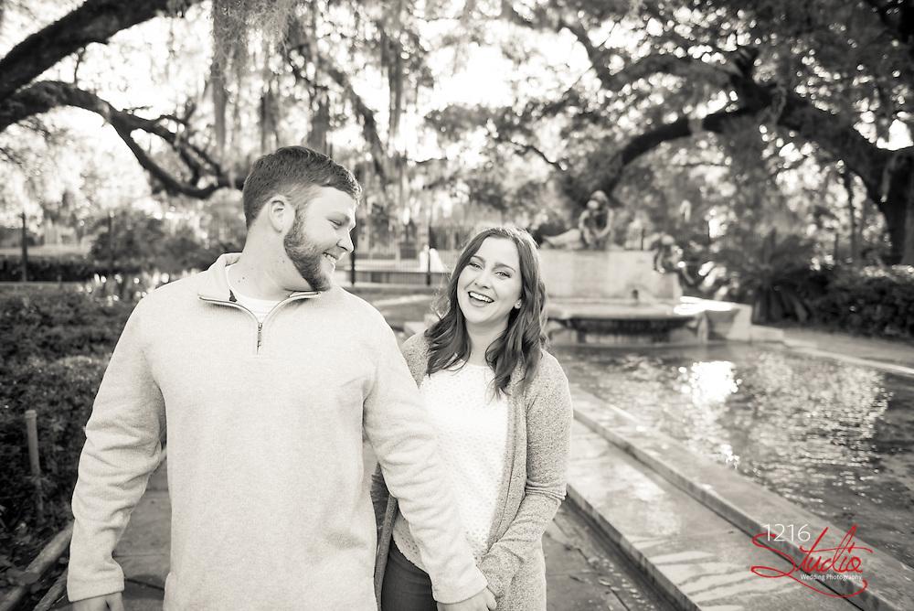 Trey & Brooke Engagement Photography Samples   Audubon Park, New Orleans, LA   1216 Studio Wedding Photography