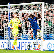 frustrated, Chelsea (15) Victor Moses during the Premier League match between Chelsea and West Ham United at Stamford Bridge, London, England on 8 April 2018. Picture by Sebastian Frej.
