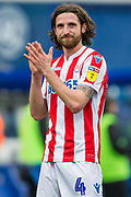 Joe Allen (Stoke) thanking supporters following  the EFL Sky Bet Championship match between Queens Park Rangers and Stoke City at the Loftus Road Stadium, London, England on 9 March 2019.