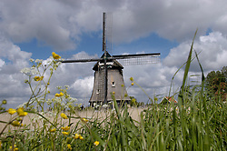 windmill in noord holland