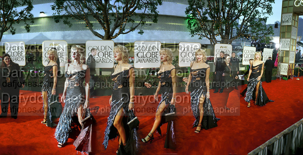 Courtney Love arriving, Golden Globes. Beverley Hilton Hotel. Los Angeles. 23/1/2000© Copyright Photograph by Dafydd Jones<br /> 66 Stockwell Park Rd. London SW9 0DA<br /> Tel 0171 733 0108. www.dafjones.com