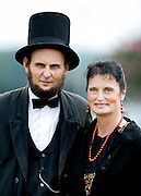 Photo by Gary Cosby Jr.  Civil War Reenactors converged on Point Mallard to stage the Battle for Decatur Saturday.  Mike and Laura Cox from Antioch, TN portray Abraham and Mary Todd Lincoln at the reenactment.