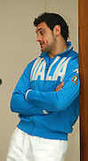 Marco Bortolami [Italy]    waits to be interviewed at the 2006 RBS Six Nations Rugby launch Press Conference,  held at the Hurlingham Club, Fulham. London ENGLAND,  on 25.01.2006   © Peter Spurrier/Intersport Images - email images@intersport-images.   [Mandatory Credit, Peter Spurier/ Intersport Images].