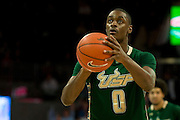 DALLAS, TX - JANUARY 15: Martino Brock #0 of the South Florida Bulls shoots a free-throw against the SMU Mustangs on January 15, 2014 at Moody Coliseum in Dallas, Texas.  (Photo by Cooper Neill/Getty Images) *** Local Caption *** Martino Brock