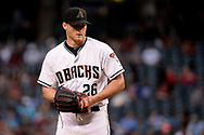 PHOENIX, AZ - APRIL 07:  Shelby Miller #26 of the Arizona Diamondbacks delivers a pitch in the first inning against the Cleveland Indians at Chase Field on April 7, 2017 in Phoenix, Arizona.  (Photo by Jennifer Stewart/Getty Images)
