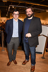 Left to right, Simon Bird and Matt Berry at The Philanthropist After Party held at The Mall Galleries, 17 Carlton House Terrace, London England. 20 April 2017.