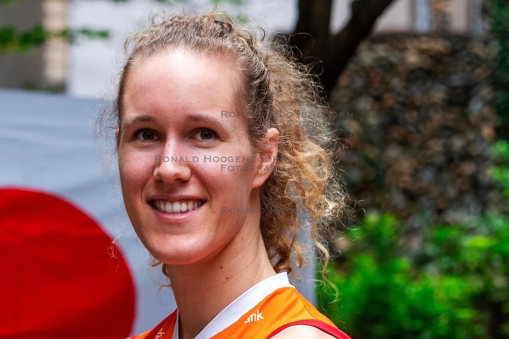 13-10-2018 JPN: World Championship Volleyball Women day 14, Nagoya<br /> Portraits Dutch Volleybal Team - Nicole Koolhaas #22 of Netherlands