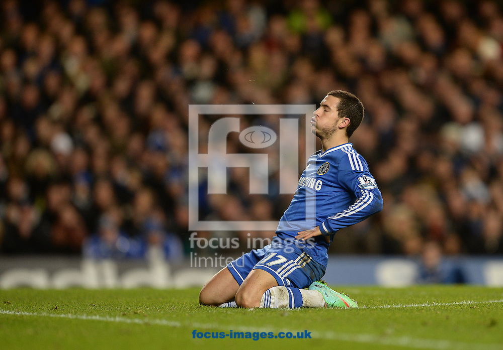 Picture by Andrew Timms/Focus Images Ltd +44 7917 236526<br /> 19/01/2014<br /> Eden Hazard of Chelsea during the Barclays Premier League match against Manchester United at Stamford Bridge, London.