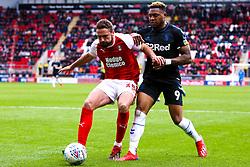 Clark Robertson of Rotherham United holds off pressure from Britt Assombalonga of Middlesbrough - Mandatory by-line: Ryan Crockett/JMP - 05/05/2019 - FOOTBALL - Aesseal New York Stadium - Rotherham, England - Rotherham United v Middlesbrough - Sky Bet Championship