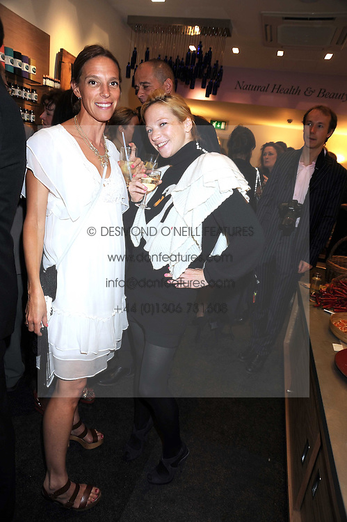 Left to right, TIPHAINE CHAPMAN and NATHALIE PRESS at the Natural Beauty Honours 2008 hosted by Neal's Yard Remedies, 124b King's Road, London SW3 on 4th September 2008.<br /> <br /> NON EXCLUSIVE - WORLD RIGHTS