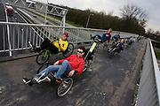 Deelnemers aan de landelijke ligfietsdag
