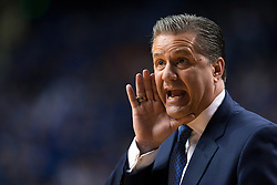 Kentucky head coach John Calipari gives instructions in the first half.<br /> <br /> The University of Kentucky hosted the University of Tennessee, Thursday, Feb. 18, 2016 at Rupp Arena in Lexington .