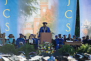 "The Spring class of 2016 was treated to the inspirational words of Oprah Winfrey. ""JCSU, your future is so bright, it burns my eyes!"" were some of the inspiring words from the media mogul. Ms. Winfrey was in Charlotte to celebrate the graduation of Noluthando ""Thando"" Dlomo and Nompumelelo ""Mpumi"" Nobiva. Both young ladies were graduates of the Oprah Winfrey Leadership Academy for Girls in South Africa."