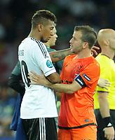 Fotball<br /> EM 2012<br /> 13.06.2012<br /> Tyskland v Nederland / Holland<br /> Foto: Witters/Digitalsport<br /> NORWAY ONLY<br /> <br /> v.l. Jerome Boateng (Deutschland), Rafael van der Vaart<br /> Fussball EURO 2012, Vorrunde, Gruppe B, Niederlande - Deutschland 1:2