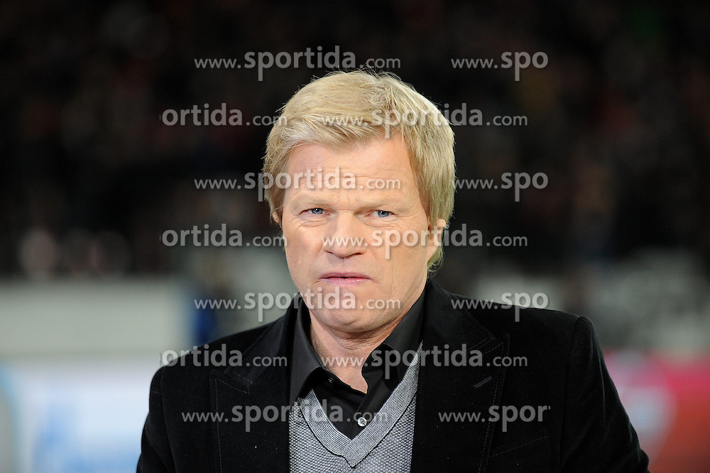 25.02.2015, BayArena, Leverkusen, GER, UEFA EL, Bayer 04 Leverkusen vs Atletico Madrid, 1. Runde, R&uuml;ckspiel, im Bild ZDF Experte Oliver Kahn // during the UEFA Europa League 1st Round, 2nd Leg match between Bayer 04 Leverkusen and Atletico Madrid at the BayArena in Leverkusen, Germany on 2015/02/25. EXPA Pictures &copy; 2015, PhotoCredit: EXPA/ Eibner-Pressefoto/ Thienel<br /> <br /> *****ATTENTION - OUT of GER*****