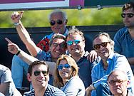 AMSTELVEEN  - Hockey -  1e wedstrijd halve finale Play Offs dames.  Amsterdam-Bloemendaal (5-5), Marc Benninga, Marinus Moolenburgh, Andrew Citroen, Dabine Choffat.  COPYRIGHT KOEN SUYK