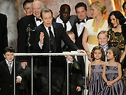 "Steve Buscemi speaks after winning as part of the Ensemble in a Drama Series for ""Boardwalk Empire."" The 18th Annual Screen Actors Guild Awards were held at the Shrine Exposition Center in Los Angeles, CA 1/29/2012(John McCoy/Staff Photographer)"