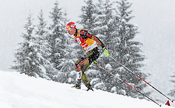 31.01.2016, Casino Arena, Seefeld, AUT, FIS Weltcup Nordische Kombination, Seefeld Triple, Langlauf, im Bild Eric Frenzel (GER) // Eric Frenzel of Germany competes during 15km Cross Country Gundersen Race of the FIS Nordic Combined World Cup Seefeld Triple at the Casino Arena in Seefeld, Austria on 2016/01/31. EXPA Pictures © 2016, PhotoCredit: EXPA/ JFK