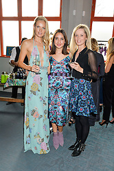 Left to right, SABINA BERNER, GABRIELA FONES and CAMILLA BARING at the launch of Matthew Williamson's 'Sea to Shore' range for The Outnet.com held at the Matthew Williamson's showroom, Studio 10-11, 135 Salusbury Road, London NW6 on 5th May 2016