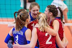 04-04-2017 NED:  CEV U18 Europees Kampioenschap vrouwen dag 3, Arnhem<br /> Rusland - Bulgarije 3-0 / Vreugde bij Rusland met oa Yulia Brovkina #11