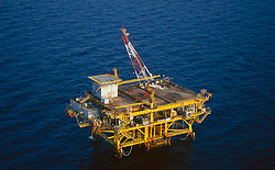 Stock photo of offshore petroleum  production platform
