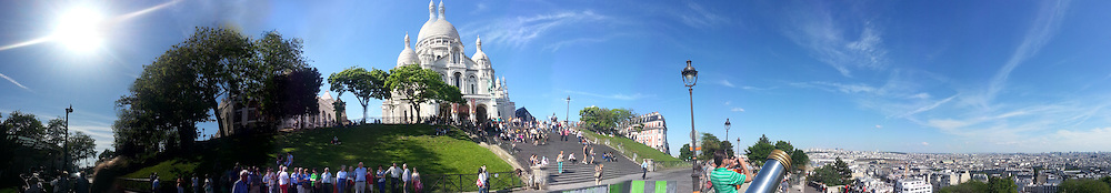 Sacre Coeur & Paris skyline panorama