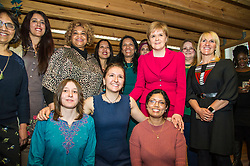 Pictured: Nicola Sturgeon, MSP with some of the many women who have been supported by Shakti Women's Aid<br /> <br /> Nicola Sturgeon, MSP, paid a visit today to Shakti Women's Aid in Edinburgh today to campaign against the Rape Clause. <br /> Ger Harley | EEm 25 April 2017