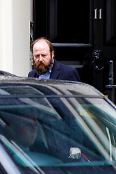 © Licensed to London News Pictures. 01/03/2017. London, UK. NICK TIMOTHY, Joint Downing Street Chief of Staff to prime minister Theresa May leaves Downing Street in London on 1 March 2017. A cache of secret documents obtained by Channel 4 News recently revealed the Prime Minister's chief of staff Nick Timothy played a central role in a controversial election campaign, which is now under police investigation. Photo credit: Tolga Akmen/LNP