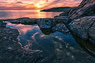 Europe, United Kingdom, Scotland, Lochinver, coastal sunset