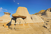 Hoodoos in Badlands<br /> East Coulee near Drumheller<br /> Alberta<br /> Canada