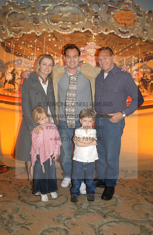 Left to right, actor JASON DONOVAN and his wife withe their children JEMMA & ZAC and Jason's father TERRY DONOVAN at a children's party in aid of the charity Over The Wall held at Fortnum & Mason, Piccadilly, London before a gala premiere of the new musical Mary Poppins at The Prince of Wales Theatre, Old Compton Street, London W1<br /><br />NON EXCLUSIVE - WORLD RIGHTS