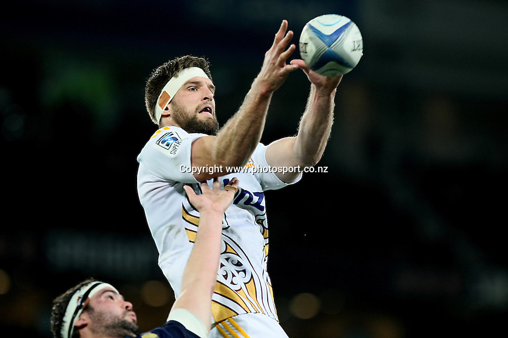 Mike Fitzgerald of the Chiefs with lineout ball  in the Super 15 rugby match, Highlanders v Chiefs, Forsyth Barr Stadium, Dunedin, New Zealand, Friday, June 27, 2014. Photo: Dianne Manson / www.photosport.co.nz