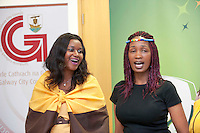 21/05/2013 Repro free.  21/05/2013 Repro free. Catherine Kate Njemcenze and Mysa Moshoeshoi from Ladies of the South Choir at the launch of Africa Day 2013 at Galway City Museum by Galway City Council and Irish Aid  ..Africa Day falls on 25th May each year, with events taking place around the country from 20th-27th May.  It is an initiative of the African Union, and aims to celebrate African diversity and success and the cultural and economic potential of the continent.  In Ireland, events to mark Africa Day are supported by Irish Aid, the Government's programme for overseas development and Galway City Council.. .The events planned by Galway City Council will take place on 21st May and from 24th to 26th May.  Galway City Council are launching Africa Day 2013 by Mayor of Galway City Cllr Terry O'Flaherty on Tuesday 21st May @ 11:00 a.m.at the Galway City Museum with inputs from the African Ambassadors Network, Africian Film Festival, NUIG and music by South Africian Choirs. Picture:Andrew Downes