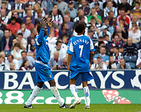 Photo: Leigh Quinnell.<br /> West Brom v Birmingham City. The Barclays Premiership. Emile Heskey celebrates his goal for Birmingham<br /> 27/08/2005.