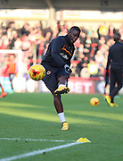Sako boots warm up during the Sky Bet Championship match between Brentford and Wolverhampton Wanderers at Griffin Park, London, England on 29 November 2014.