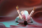 Brazilian choreographer and dancer Jean Abreu performs his latest show BLOOD featuring images by Gilbert & George – the first time the iconic duo have allowed their art to be used in 42 years. In the Linbury Theatre of the Royal Opera House, London.